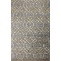 R129-GY-4X6-HG300 4 x 6 Small Gray Area Rug - Greenwich