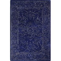 R120-NV-5X7.6-CL130 5 x 8 Medium Navy Blue Rug - Venezia