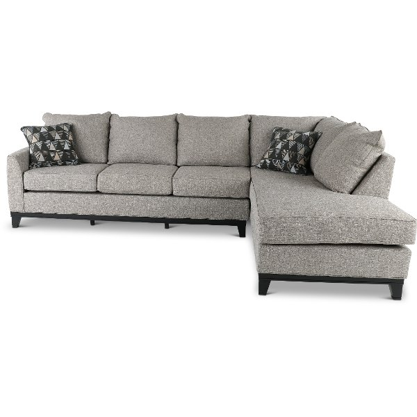 Casual Contemporary Slate Gray 2 Piece Sectional Sofa Emerson