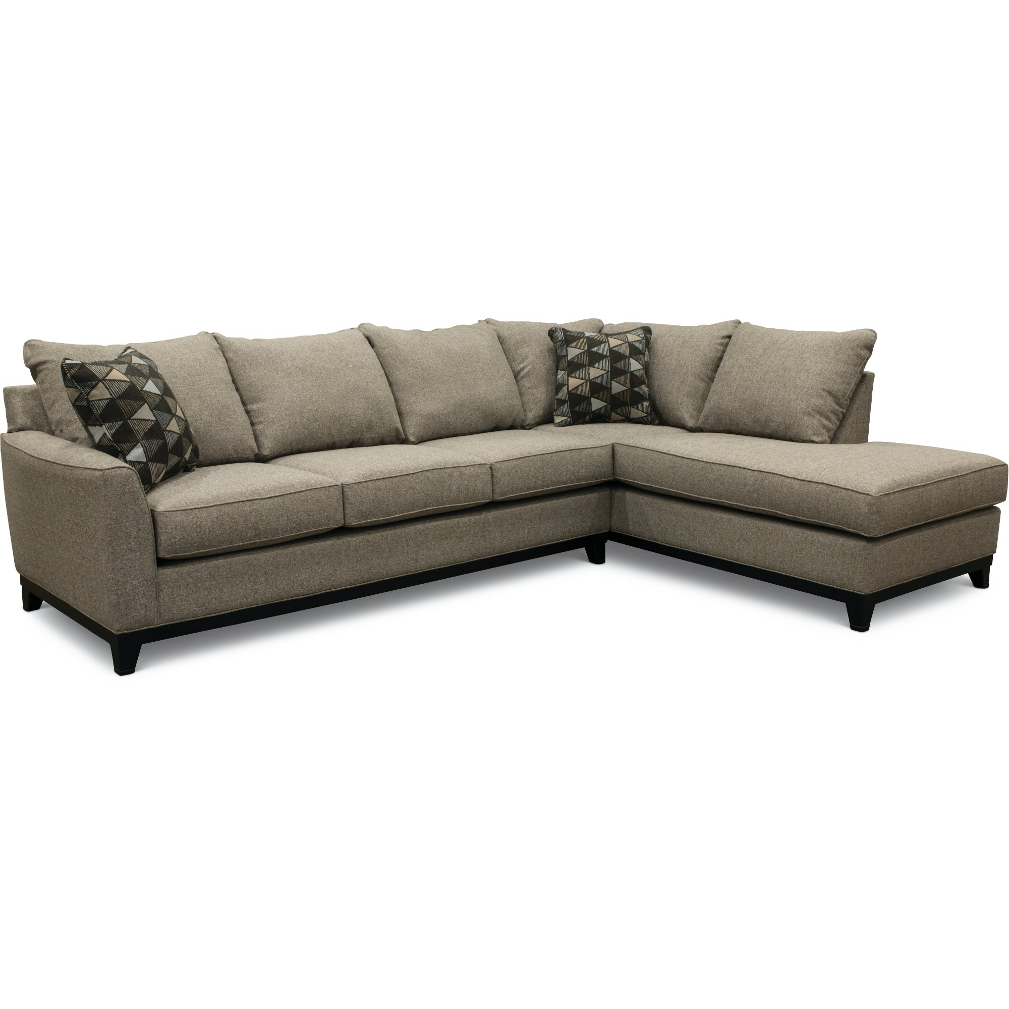 2-Piece Emerson Slate Gray Sectional Sofa with RAF Chaise