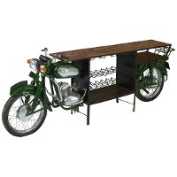 Metal 2-Wheeler Scooter Side Table with Wine Rack - Bicycle