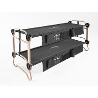 30501BO Large Black Bunk Bed with 2 Organizers