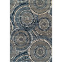 8 x 10 Large Indigo Blue Indoor-Outdoor Rug - St Croix