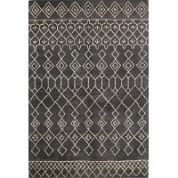 S185-CHAR-8X10-ST258 8 x 10 Large Charcoal Gray Area Rug - Chelsea