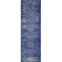 Dark Blue 8 Foot Runner Rug - Everek