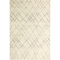 E110-IVGY-5X7.6-5364 5 x 8 Medium Ivory and Gray Area Rug - Everek