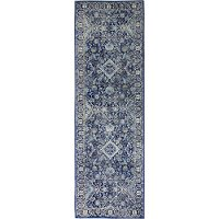 E110-DKBL-2.6X85394A Dark Navy Blue 8 Foot Runner Rug - Everek