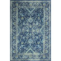 E110-DKBL-4X6-5394A 4 x 6 Small Dark Navy Blue Rug - Everek