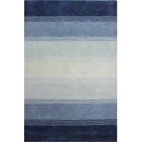 5 x 8 Medium Blue Rug - Contempo