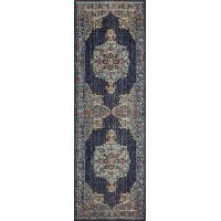 3 x 8 Runner Dark Blue Rug - Heritage