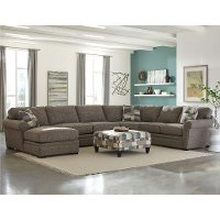 Brown 4 Piece Sectional Sofa with LAF Chaise - Orion