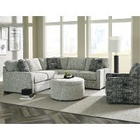 Casual Contemporary Gray 2 Piece Sectional - Juno