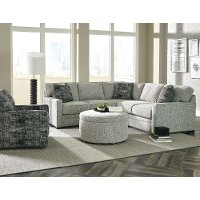 Contemporary Gray 2 Piece Sectional Sofa with LAF Loveseat - Juno