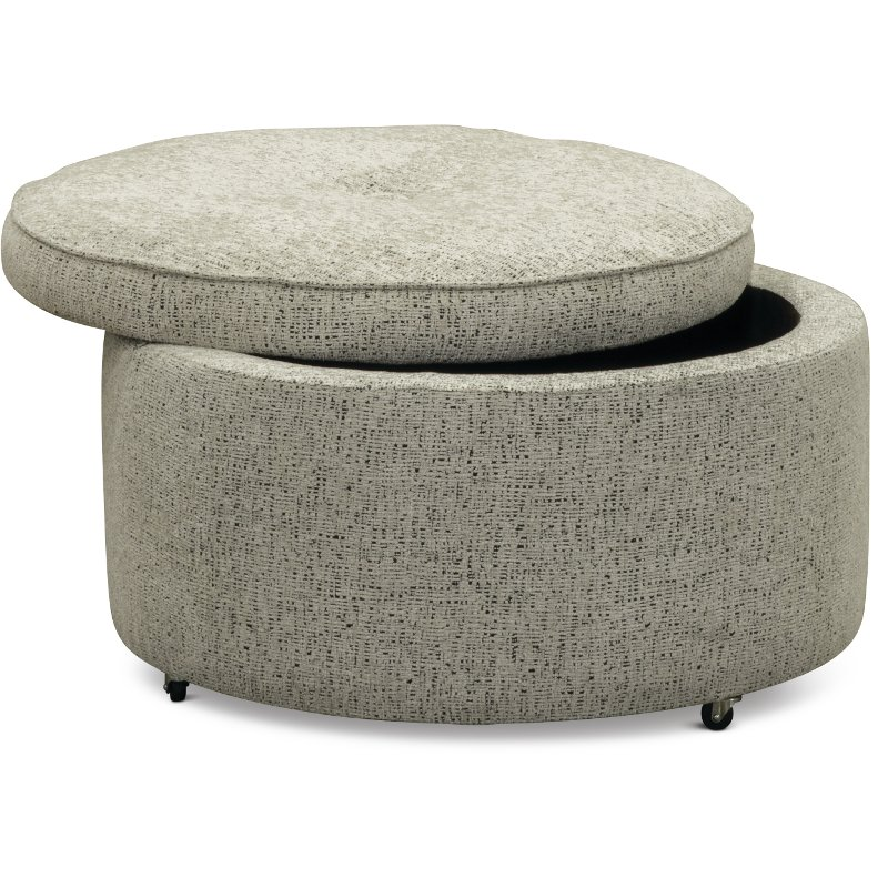 Genial Casual Contemporary Gray Storage Ottoman   Juno