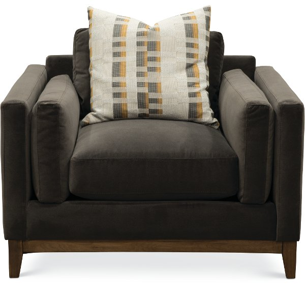 Clearance Modern Mink Brown Velvet Chair Kelsey