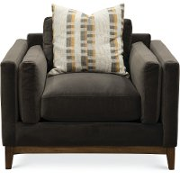 Modern Mink Brown Velvet Chair - Kelsey