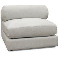Modern Arctic White Armless Chair - Xander