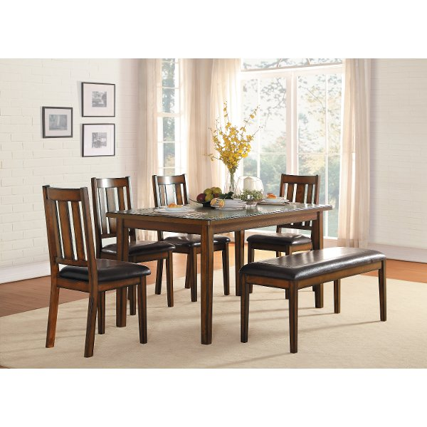 Dark Cherry 6 Piece Dining Set - Del Mar  sc 1 st  RC Willey & Shop Standard Dining Room Sets | Furniture Store | RC Willey