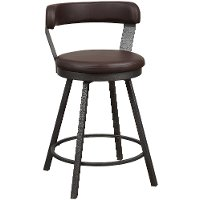 Espresso Brown Modern Swivel Counter Height Stool - Appert