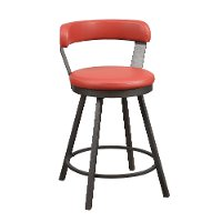 Retro Red Modern Swivel Counter Height Stool - Appert