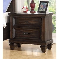 Classic Traditional Brown Youth Nightstand - Sevilla