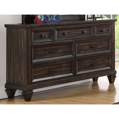 Classic Traditional Brown Youth Dresser - Sevilla