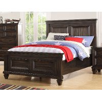 Classic Traditional Brown Twin Bed - Sevilla
