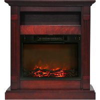CAM3437-1CHR Cherry Electrical Mantel Fireplace (34 Inch) - Sienna