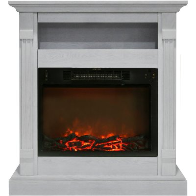 RC Willey has the white Sienna electric fireplace which offers the perfect blend of style and functionality to any room it's placed in. Its slim frame is made out of a sturdy MDF material that is available in seven striking finishes. The clean lines