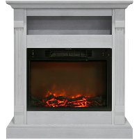 CAM3437-1WHT White Electrical Mantel Fireplace (34 Inch) - Sienna