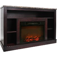 CAM5021-1MAH Mahogany Electric Fireplace with Mantel (47 Inch) - Seville