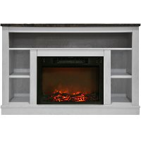 CAM5021-1WHT White Electric Fireplace with Mantel (47 Inch) - Seville