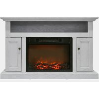 CAM5021-2WHT Crisp White Modern 50 Inch Fireplace TV Stand - Sorrento