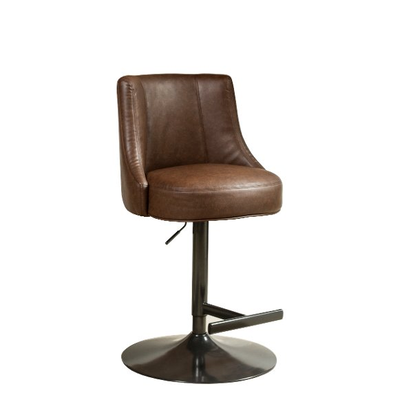 Airlift Black Bar StoolSave $105999 Saddle Brown Adjustable Counter Height  Stool   Biscayne