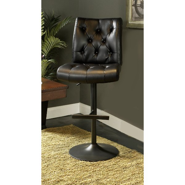 ... Black Adjustable Counter Height Stool   Chancellor