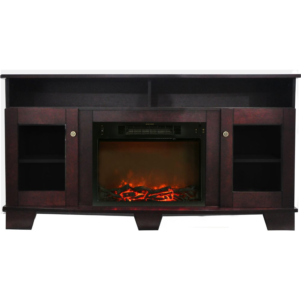 59 inch mahogany brown tv stand and fireplace rc willey