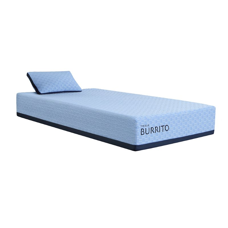 Blue Burrito Visco Gel Memory Foam Twin Mattress