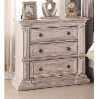 Rustic Traditional Cream Nightstand - Santa Fe