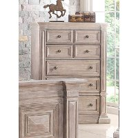 Rustic Traditional Cream Chest of Drawers - Santa Fe