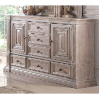 Rustic Traditional Cream Dresser - Santa Fe