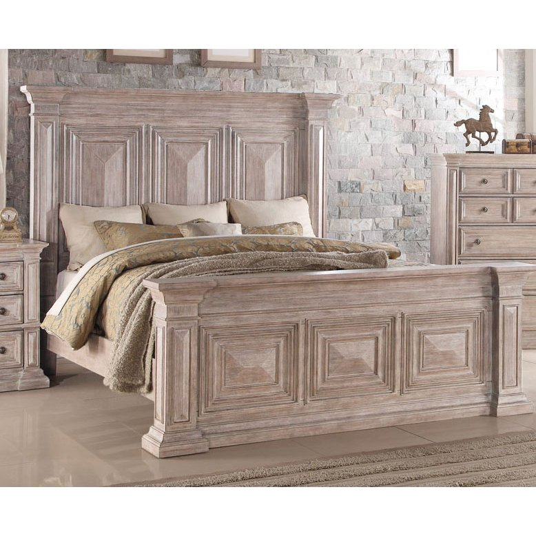 Rustic Traditional Cream King Size Bed Santa Fe Rc Willey Furniture