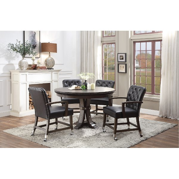 Walnut Reversible Gaming And Dining Set Payout