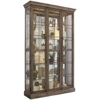 Windowpane Door Curio Cabinet