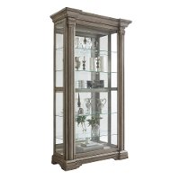 Bluff Gray Sliding Door Curio Cabinet - Madison Ridge