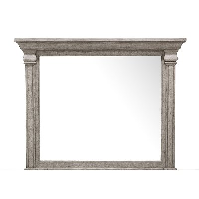 Classic Traditional Gray Mirror - Madison Ridge