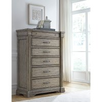 Classic Traditional Gray Chest of Drawers - Madison Ridge