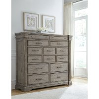 Classic Traditional Gray Master Chest - Madison Ridge