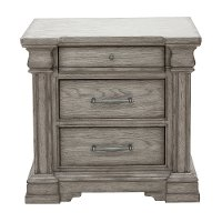 Classic Traditional Gray Nightstand - Madison Ridge