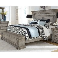 Classic Traditional Gray King Storage Bed - Madison Ridge