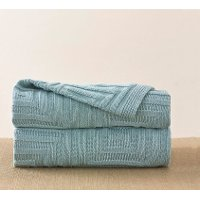 Blue Cloud Concentric Throw Blanket